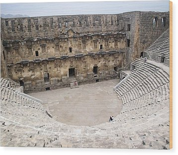 Aspendos Roman Theatre Wood Print by