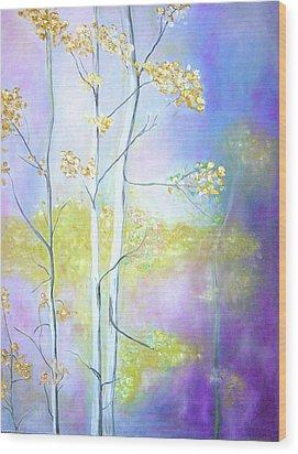 Aspens  Wood Print by Barbara Anna Knauf