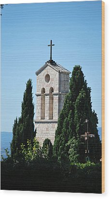 Wood Print featuring the photograph Assisi Crosses by Amee Cave