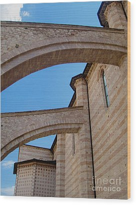 Assisi Italy - Basilica Of Santa Chiara Wood Print by Gregory Dyer