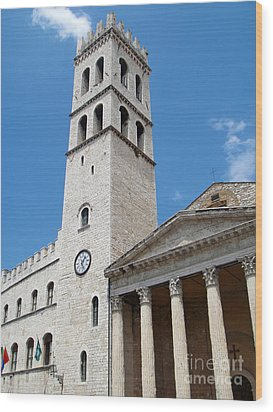 Assisi Italy - Santa Maria Sopra Minerva Wood Print by Gregory Dyer