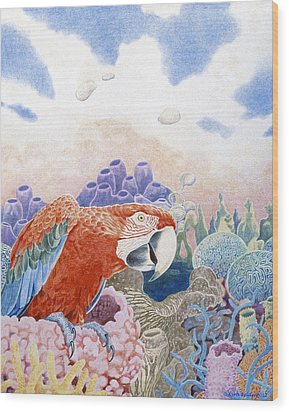 Astarte's Paradise Seven Wood Print by Kyra Belan