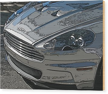 Aston Martin Db S Coupe Nose Detail Wood Print by Samuel Sheats
