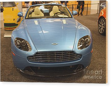 Aston Martin Db9 Convertible . 7d9623 Wood Print by Wingsdomain Art and Photography