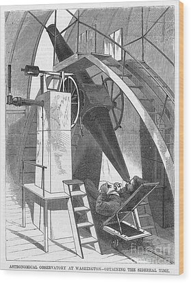 Astronomer, 1869 Wood Print by Granger