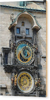 Astronomical Clock Wood Print