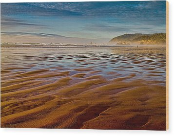 Wood Print featuring the photograph At The Beach by Ken Stanback