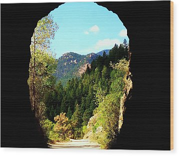 At The End Of The Tunnel Wood Print by Clarice  Lakota