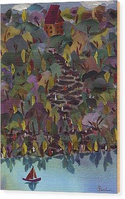 At The Lake Wood Print by Marina Gershman