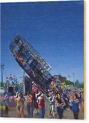Wood Print featuring the photograph At The Summer Fair by Mario Carini