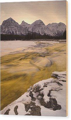 Athabasca River And Mt Fryatt, Jasper Wood Print by Darwin Wiggett