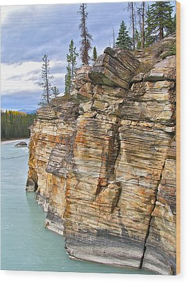 Wood Print featuring the photograph Athabasca River by Brian Sereda