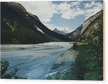 Athabasca River Wood Print by Shirley Sirois