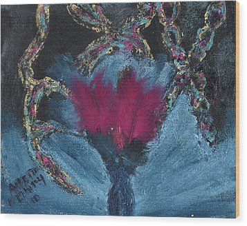 Wood Print featuring the painting Athea Seeks New Treatments by Annette McElhiney