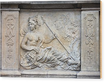 Athena Relief In Gdansk Wood Print by Artur Bogacki