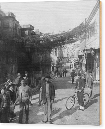 Athens Greece  C 1903 - Aeolos Street And The Stoa Of Hadrian Wood Print by International  Images