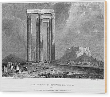 Athens: Olympian Zeus Wood Print by Granger