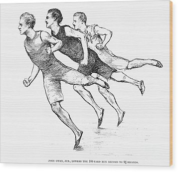 Athletics: Track, 1890 Wood Print by Granger