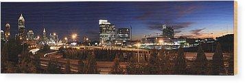 Atlanta Downtown Skyline Wood Print by Alberto Filho