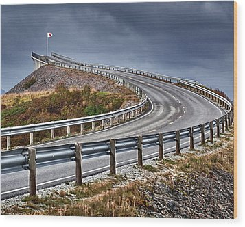 Atlantic Road Wood Print by A A