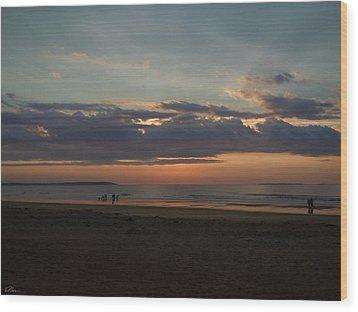 Atlantic Sunrise Wood Print by Nancy Griswold