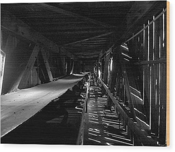Wood Print featuring the photograph Atlas Coal Mine2 by Brian Sereda