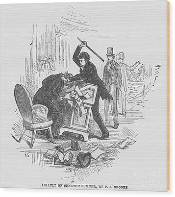 Attack On Sumner, 1856 Wood Print by Granger
