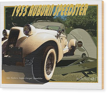 Auburn Speedster Wood Print by Kenneth De Tore