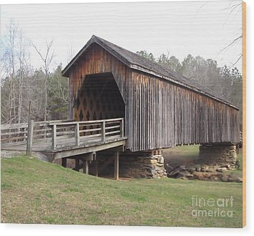 Auchumpkee Creek Bridge Wood Print by Michelle H