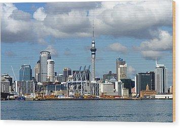 Auckland Skyline Wood Print