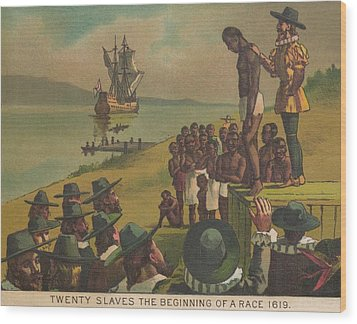 Auctioning Of Newly Arrived African Wood Print by Everett
