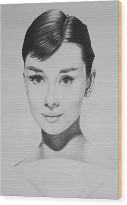 Audrey Hepburn Wood Print by Steve Hunter