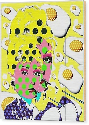 Audrey Wood Print by Ricky Sencion