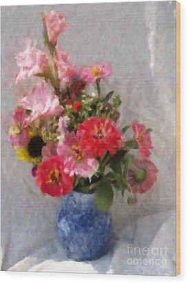 August Bouquet Wood Print
