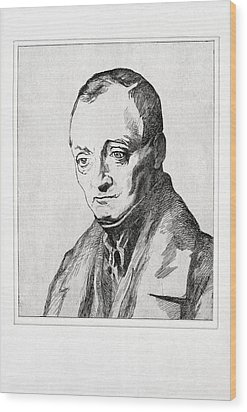 Auguste Comte, French Philosopher Wood Print by Humanities & Social Sciences Librarynew York Public Library