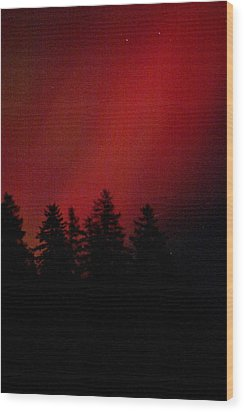 Wood Print featuring the photograph Aurora 02 by Brent L Ander