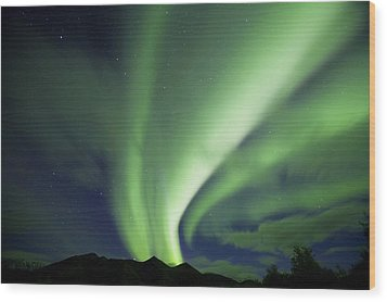 Aurora Borealis, Tombstone Territorial Wood Print by John Sylvester
