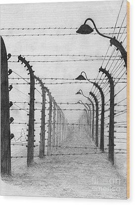 Auschwitz  Wood Print by Annemeet Hasidi- van der Leij