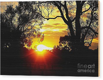 Wood Print featuring the photograph Aussie Sunset by Blair Stuart