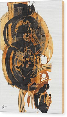 Wood Print featuring the painting Austere's Moment O Glory 113.122210 by Kris Haas
