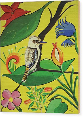Australian Kookaburra Wood Print