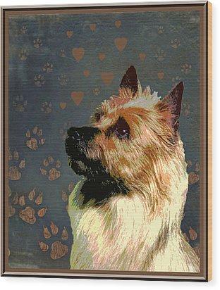 Australian Terrier Wood Print by One Rude Dawg Orcutt