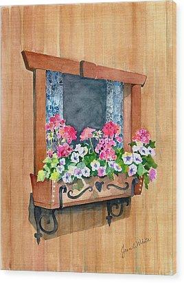 Austrian Window Wood Print by Jean White