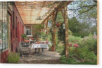 Autmn Garden Wood Print