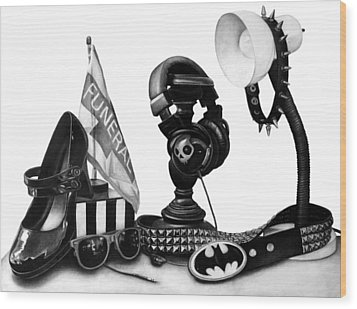 Autobiographical Still Life Wood Print by Kalie Hoodhood