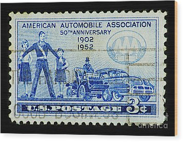 Wood Print featuring the photograph Automobile Association Of America by Andy Prendy