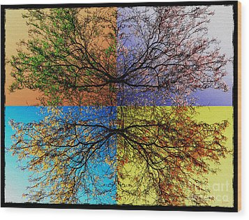 Autumn Abstract Wood Print by Jeff Breiman