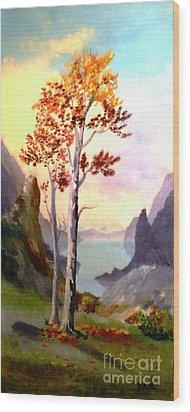 Autumn Aglow Wood Print