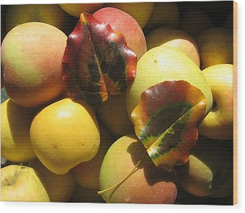 Autumn Apple Afternoon Wood Print