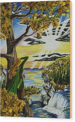 Autumn Archer Wood Print by Robert Thornton